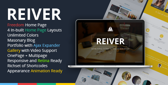 REIVER WordPress One Page Responsive Portfolio Theme
