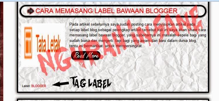 cara menghilangkan label pada blog