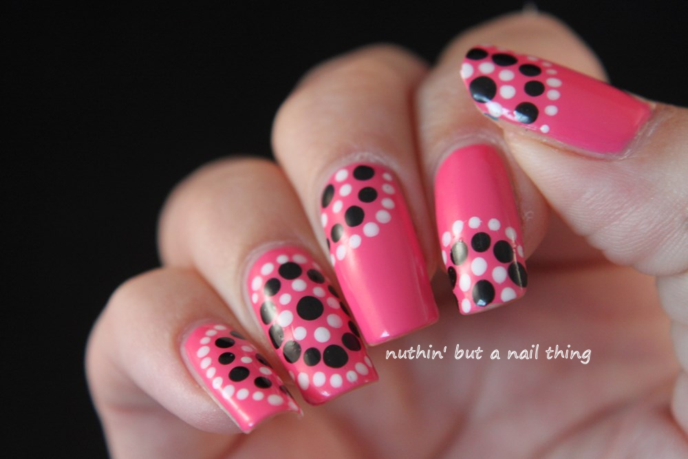 Models Own Gumballs - Polka dot nail art