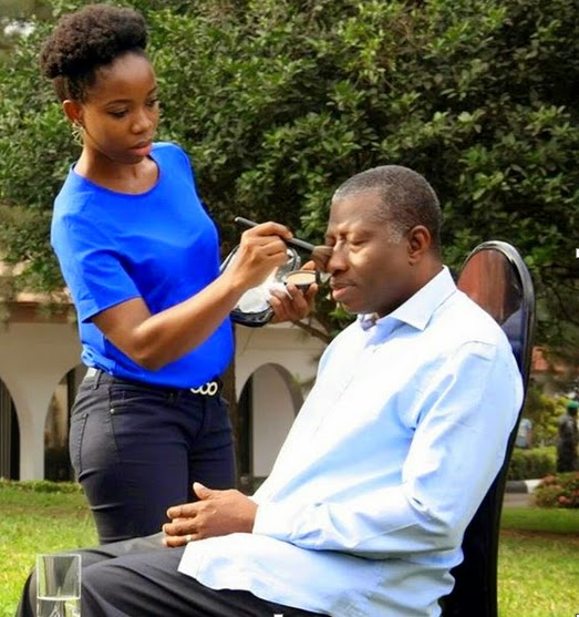 president jonathan makeup