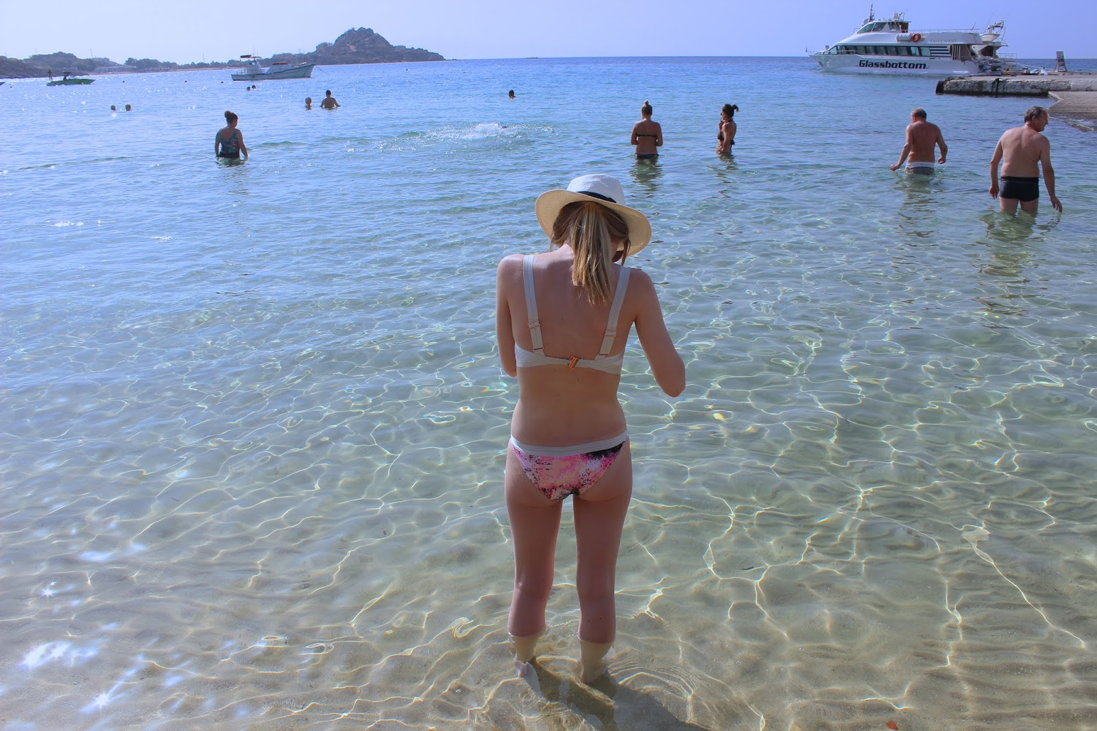 Girl on Beach In Mykonos