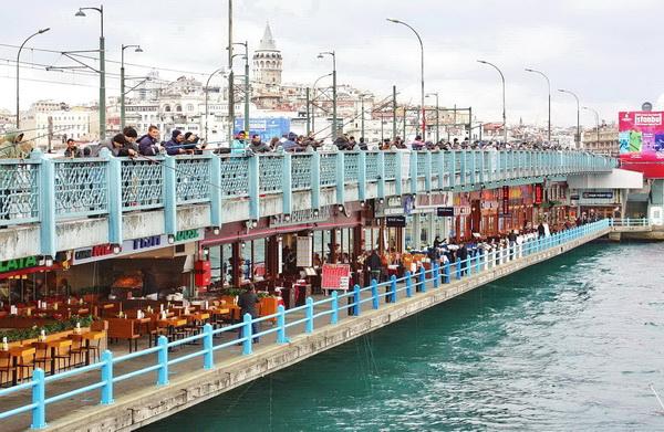 Tempat wisata terkenal di Turki istambul Istanbul jembatan galata bridge