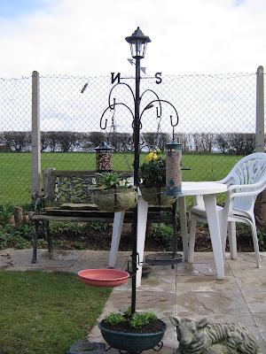 bird feeder, plant hanger, weather vane