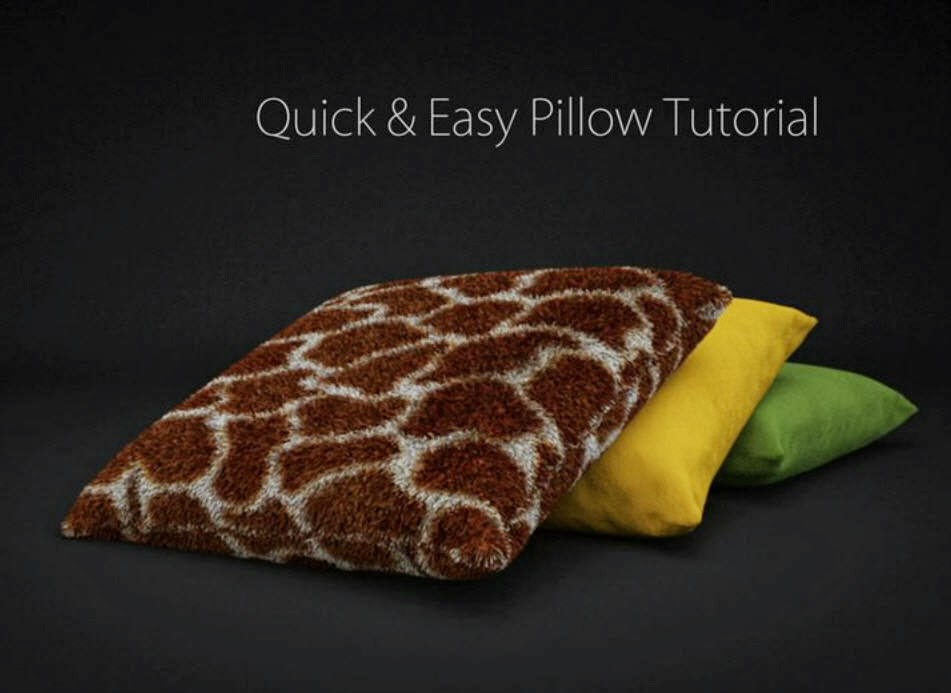 How to make a Pillow Quick & Easy in Cinema 4D CG TUTORIAL