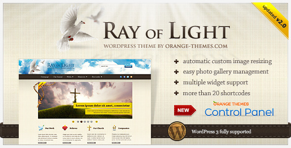 Image for Ray Of Light – Religious, Church Theme by ThemeForest