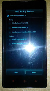 Backup & Restore IMEI