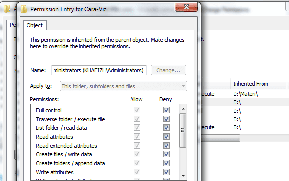 Cara Membuat File Dan Folder Anda Tidak Dapat Dibuka Atau Dihapus