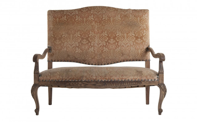 Antique Settee via Jayson Home as seen on linenandlavender.net - http://www.linenandlavender.net/p/antique-vintage-finds.html