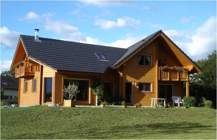 M tr et co t construction d 39 une maison en bois feuille for Cout construction maison