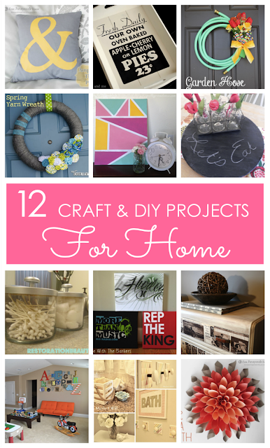 12 Craft & DIY Projects for Home at Love Grows Wild www.lovegrowswild.com #diy #craft #homedecor