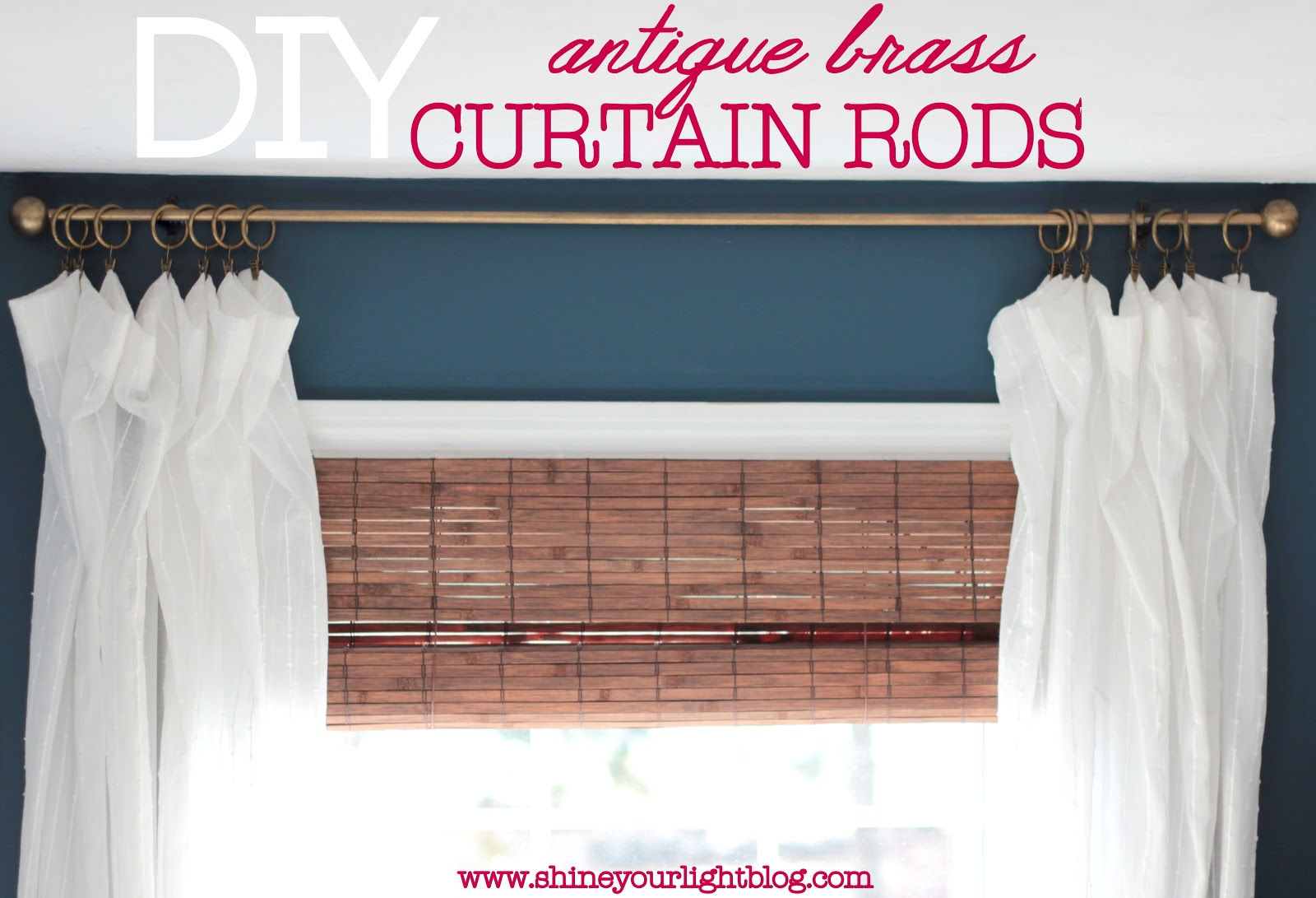 Copper Curtain Rod Diy Curtain Rods Shine Your Light