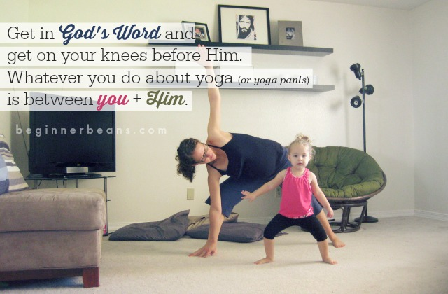 Christians + Yoga (pants) // it's all between you and God