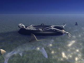 Dead In The Sea Dark Gothic Wallpaper
