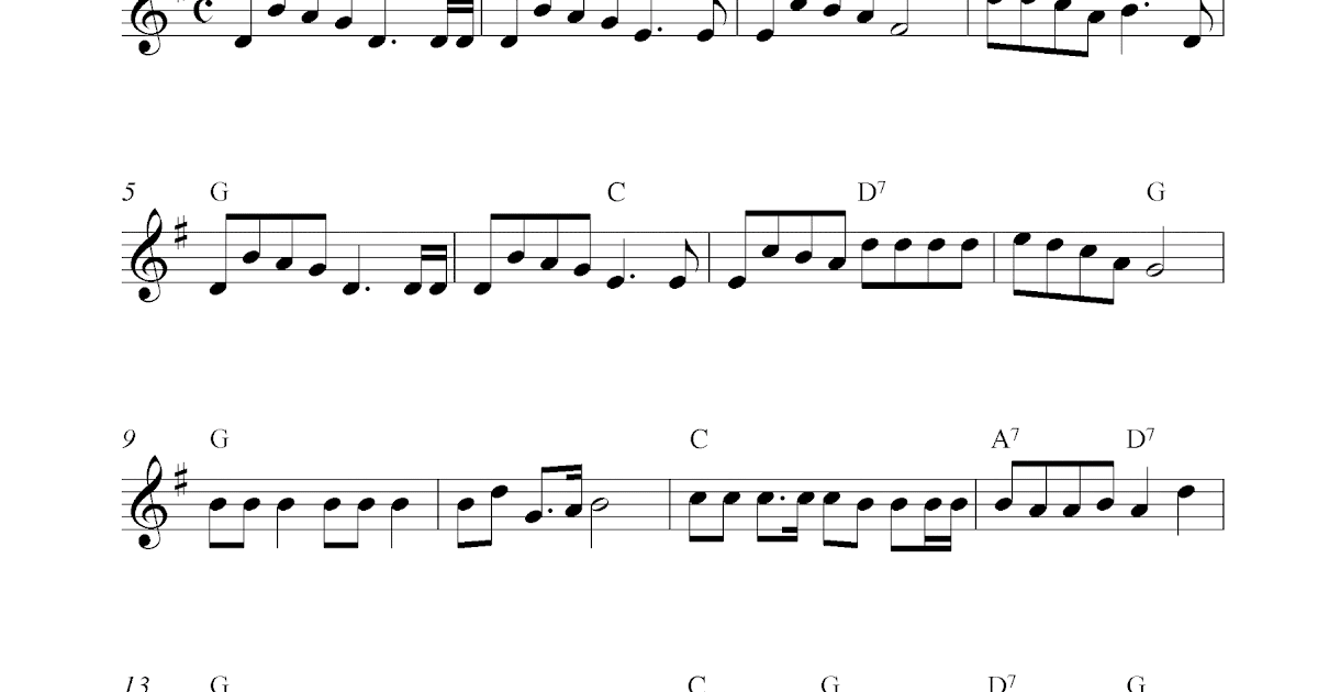 Jingle Bells, free Christmas violin sheet music