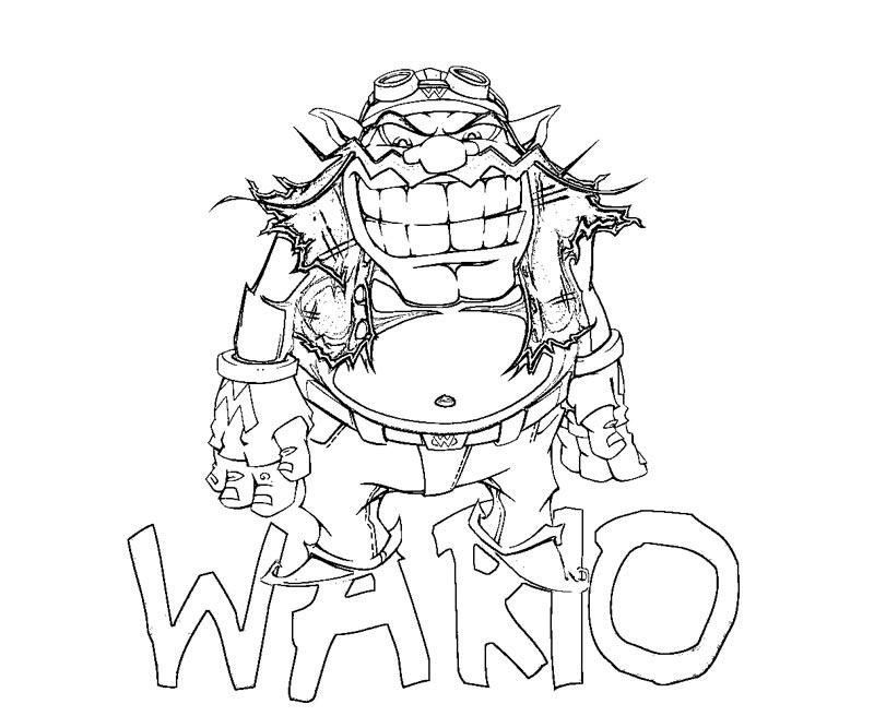 wario coloring page - wario coloring pages bing images