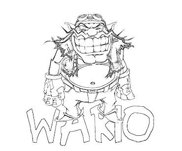 #3 Wario Coloring Page