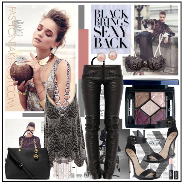 black brings sexy back high street fashion