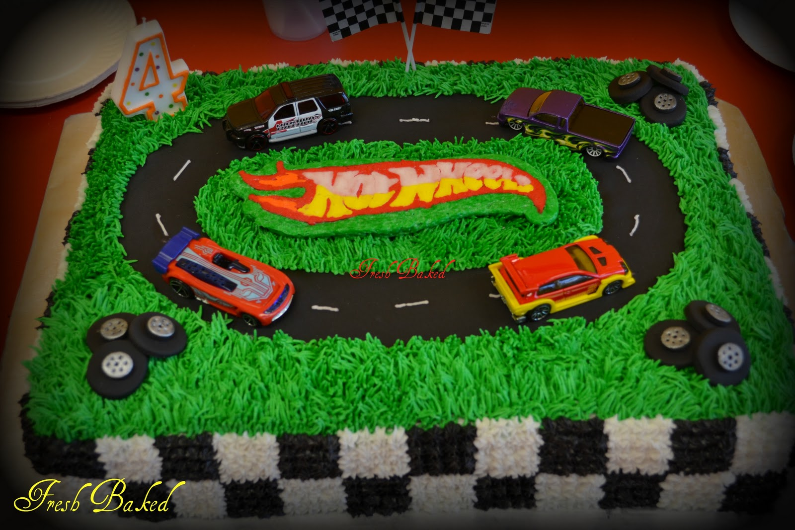 Birthday Cake Ideas Photos Hot : 3D Hot Wheels Car cake Race car birthday Pinterest ...