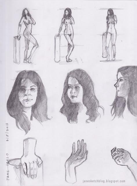 Dibujo de mujer a lápiz