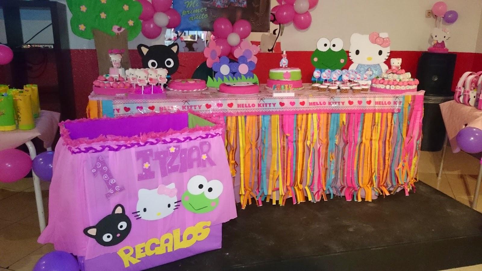Creaciones ymc decoraci n de fiesta infantil de hello kitty for Regalos para fiestas de cumpleanos infantiles