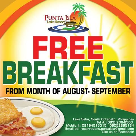 punta isla lake resort s free breakfast promo i love south