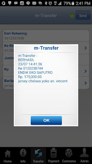 Bukti transfer pembayaran jersey di enkosa sport oleh Vincent