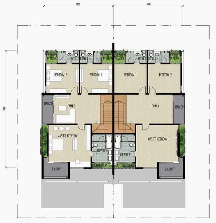Floor Plan Feng Shui 平面图の风水: Clover @ Garden Residence 2 ...