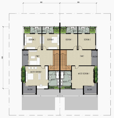 Floor plan feng shui clover garden residence 2 for Feng shui floor plan