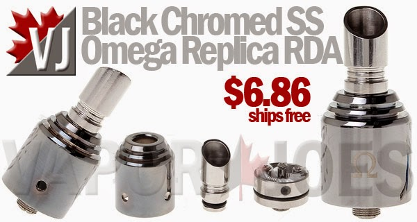 Black Chromed Stainless Steel Omega Replica RDA