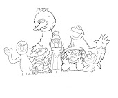 #5 Sesame Street Coloring Page