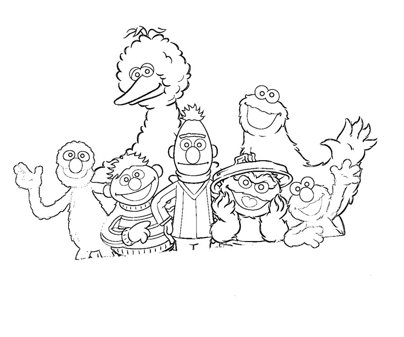 thanks for visiting sesame street coloring pages - Sesame Street Coloring Pages
