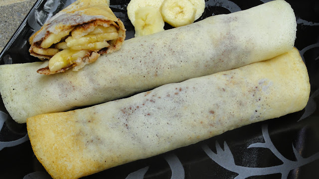 Banana – Nutella Dosa / Crepe  ~ Kids Lunch Box Recipe