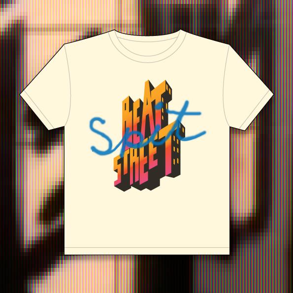 ageing bboys unite beat street spit tshirt design