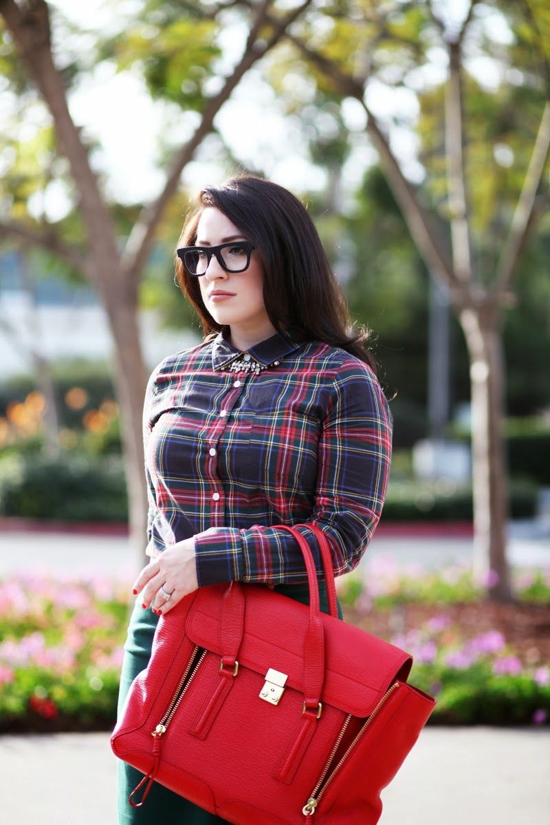 super-ciccio-glasses-jenna-lyons-jcrew-plaid-shirt-holiday-outfit-ideas-san-diego-fashion-blogger-3.1-phillip-lim-pashli