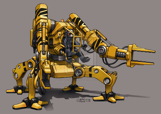 Contact - Loader Mech por Shimmering-Sword
