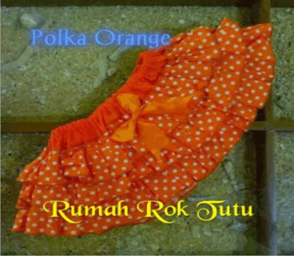 ROK TUTU KATUN : POLKA ORANGE