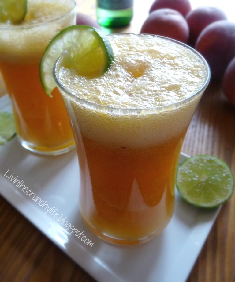 Homemade Sparkling Ginger-Peach Spritzer