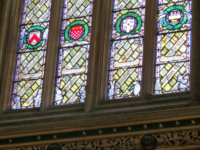 Christ church college dining hall stain glass