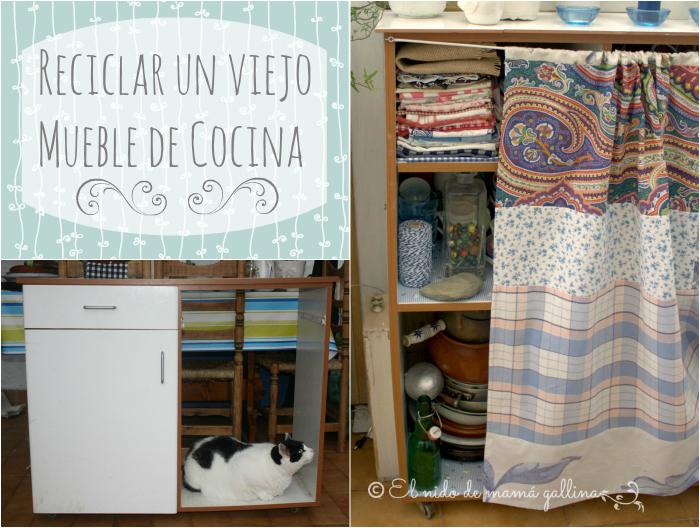 MUEBLE DE COCINA RECICLADO #DIOGENERAS  EL nido DE MAMÁ GALLINA
