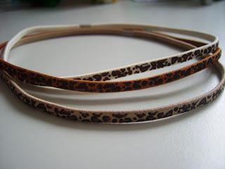 damen haargummis leopardenmuster
