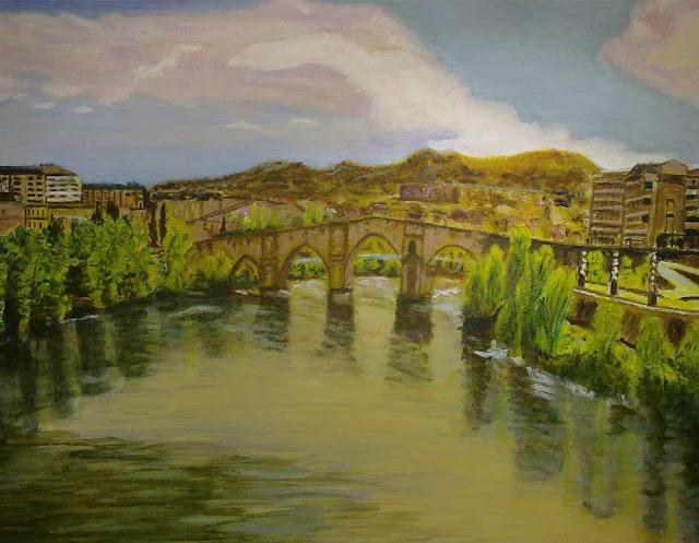 vista de ourense puente romano