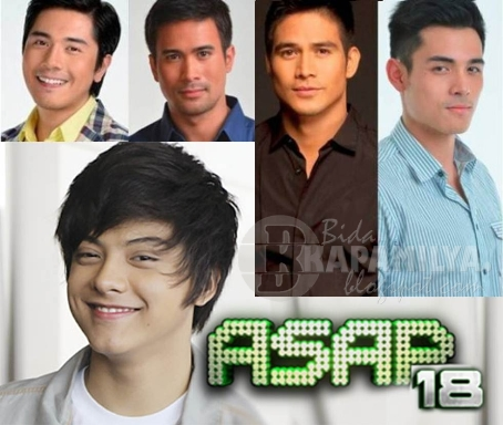 Daniel Padilla Joins Heartthrobs Paulo, Sam, Piolo and Xian on ASAP 18 (April 28)