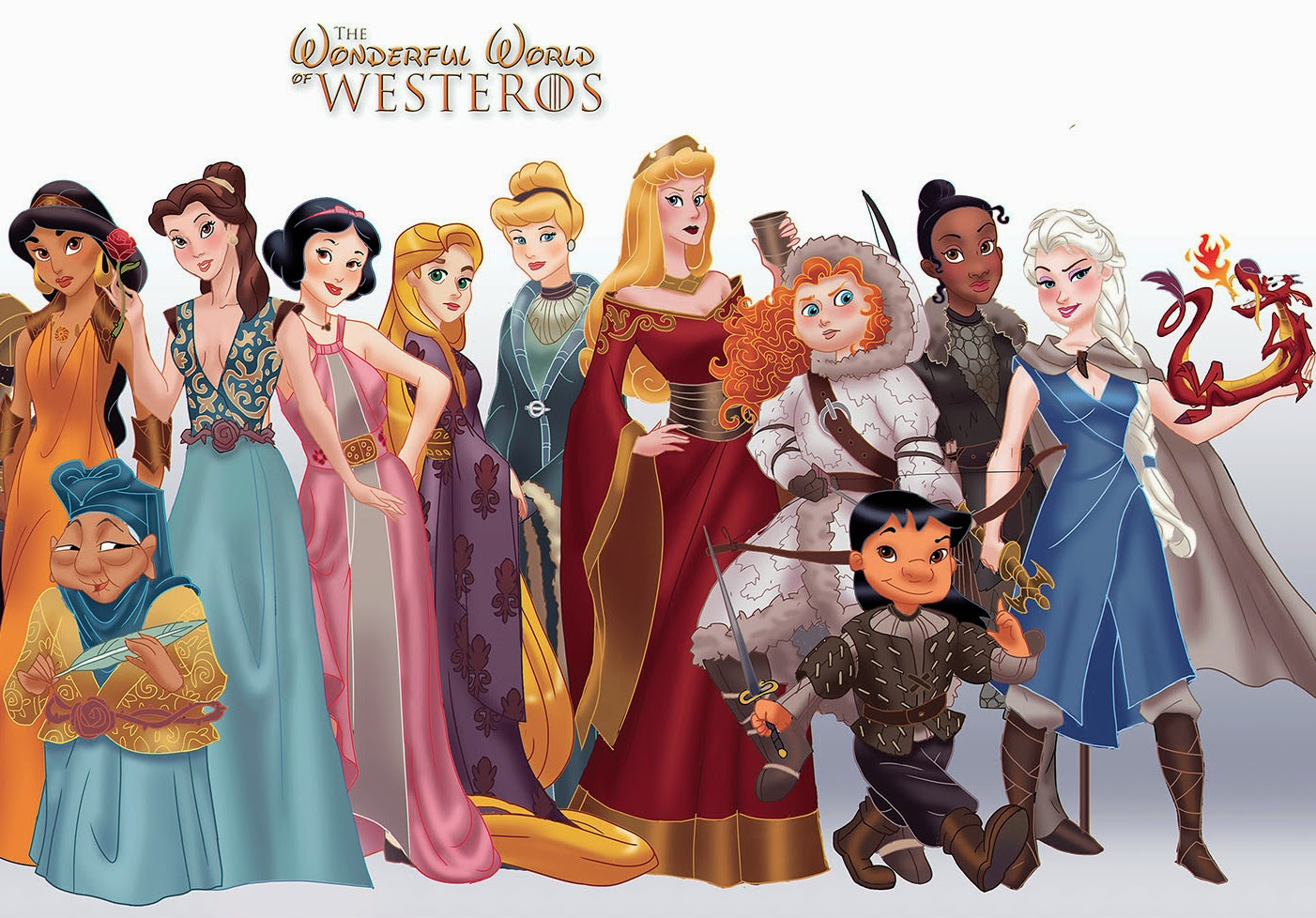 Disney Princesses X Game of Thrones