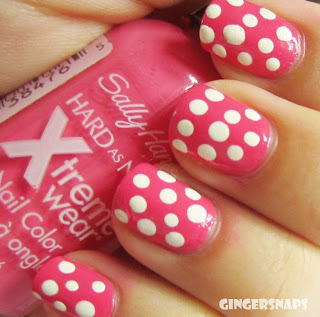 Polka Dot nails easy