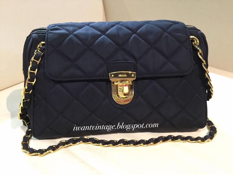 I Want Vintage | Vintage Designer Handbags: Prada BR4965 Tessuto ...