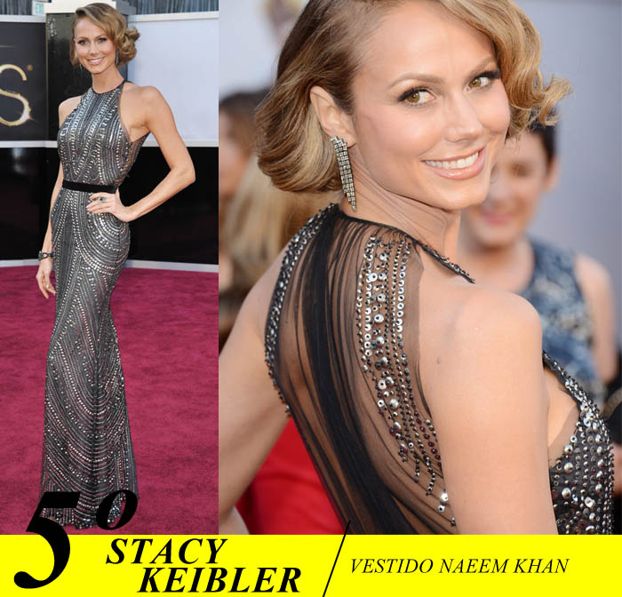 A NOITE DO OSCAR_Top 5_Mais bem vestidas do Oscar 2013_Stacy Keibler_namoradar do George Clooney