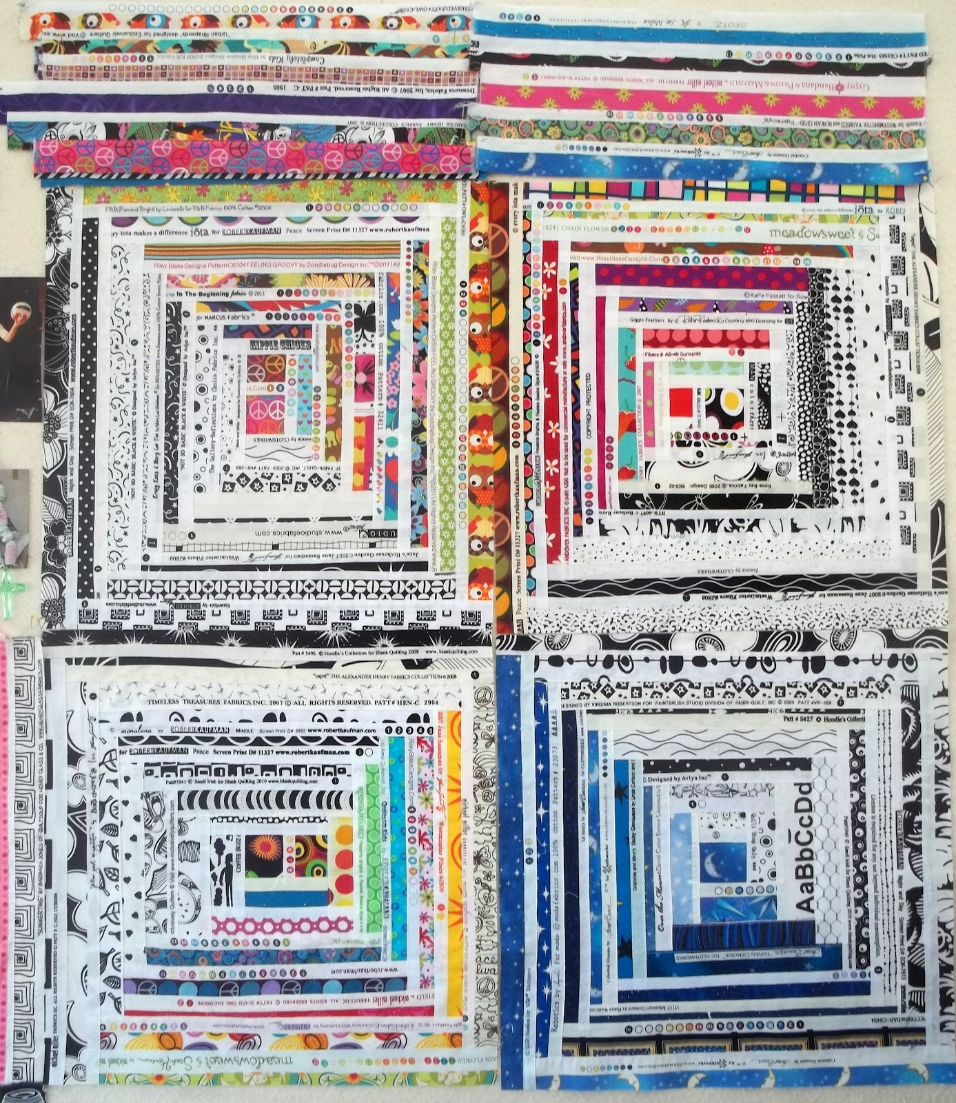Kelly Girl Quilts Selvages Log Cabin Style