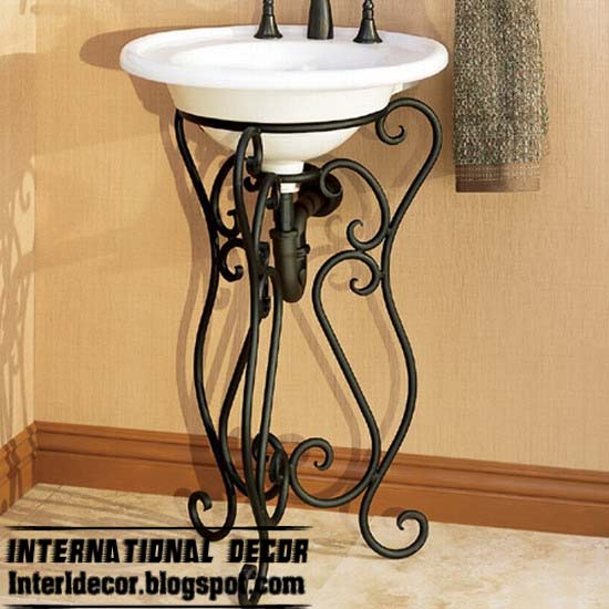 Wrought iron furniture cool ideas for different rooms for Wrought iron bathroom furniture