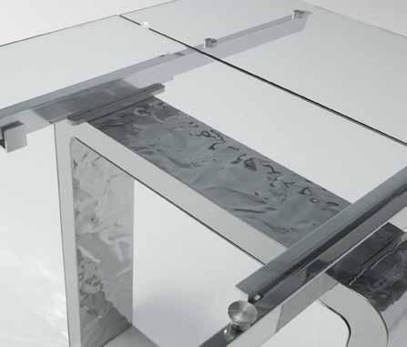 Domus arredi tavolo mito riflessi tavolo da pranzo allungabile base in acciaio stropicciato - Mobili riflessi ...