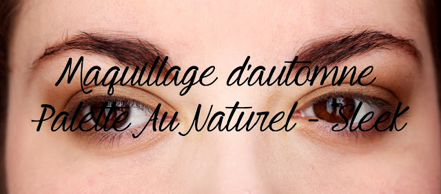Maquillage d'automne palette au naturel sleek